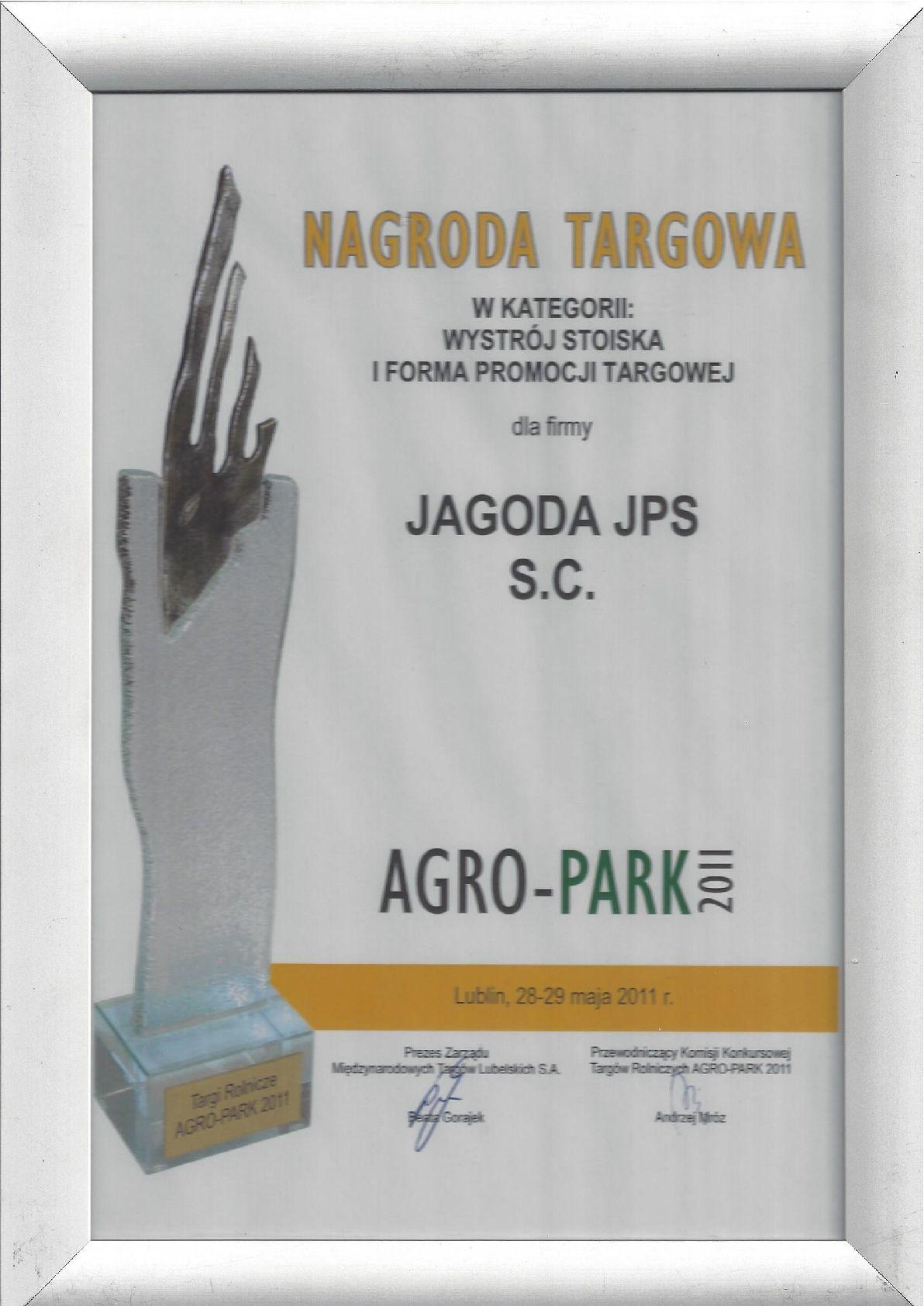 Dyplom Agropark 2011